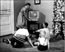 Watching an old TV