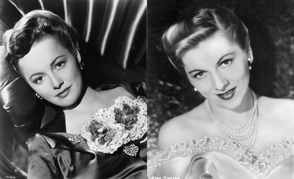 Sisters Olivia de Havilland and Joan Fontaine