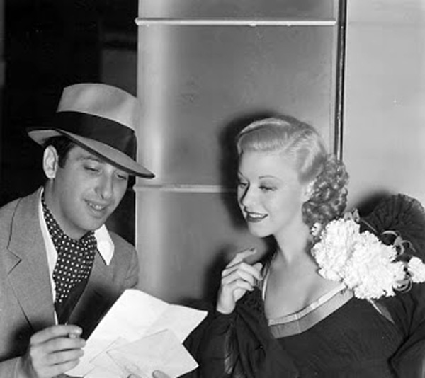 Mark Sandrich and Ginger Rogers Behind the Scenes Top Hat