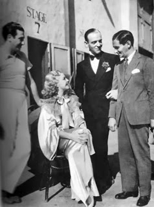 Mark Sandrich, Ginger Rogers, Fred Astaire and Irving Berlin