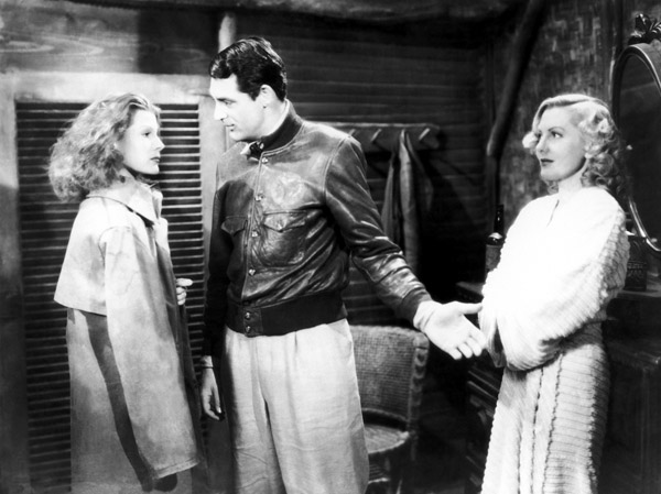 Rita Hayworth, Cary Grant and Jean Arthur in Only Angels Have Wings