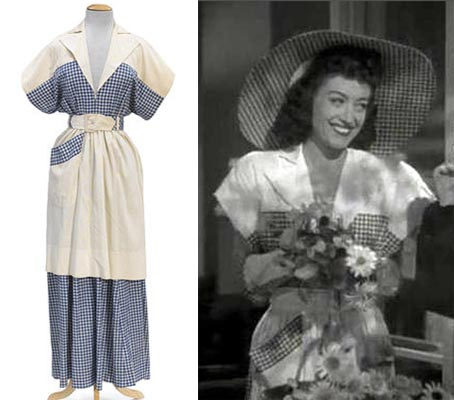 JOAN CRAWFORD DRESS FROM WHEN LADIES MEET TCM Bonham's Auction