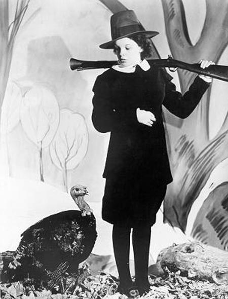 Judy Garland with turkey, Happy Thanksgiving