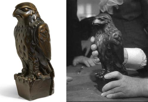 THE ICONIC LEAD STATUETTE OF THE MALTESE FALCON FROM THE 1941 FILM OF THE SAME NAME  PLEASE NOTE: NO ONLINE BIDDING FOR THIS LOT. Sold for US$ 4,085,000 inc. premium TCM Bonham's Auction NYC November 25, 2013