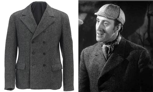 A BASIL RATHBONE JACKET FROM THE HOUND OF THE BASKERVILLES TCM Bonham's Auction What Dreams are Made Of