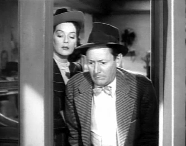 Roscoe Karns and Rosalind Russell in His Girl Friday