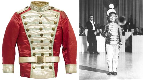 A SHIRLEY TEMPLE MAJORETTE JACKET FROM POOR LITTLE RICH GIRL TCM Bonham's Auction November 25, 2013