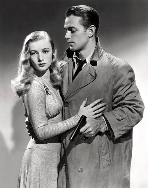 Veronica Lake and Alan Ladd in 1942 Film Noir This Gun For Hire