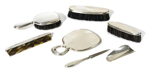 A JAMES CAGNEY STERLING SILVER DRESSER SET TCM Bonham's Auction