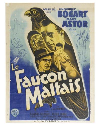 THE MALTESE FALCON poster TCM Bonham's Auction November 25, 2013
