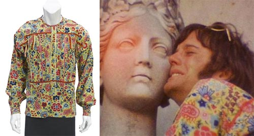 A PETER FONDA PSYCHEDELIC SHIRT FROM EASY RIDER TCM Bonham's Auction