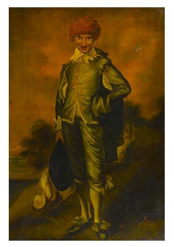 "A JOHN DECKER PORTRAIT OF HARPO MARX AS GAINSBOROUGH'S ""BLUE BOY"""