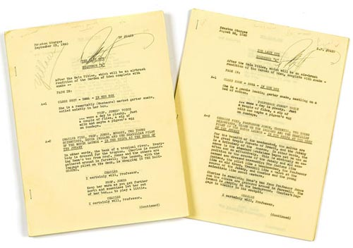 TWO PRELIMINARY DRAFTS OF THE SCREENPLAY FOR THE LADY EVE, BOTH SIGNED BY PRESTON STURGES TCM Bonham's Auction November 25, 2013