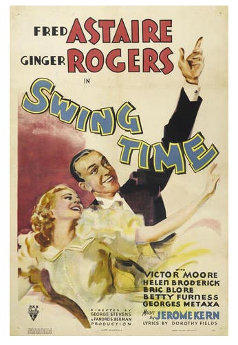 Swing Time Poster TCM Bonham's Auction November 25, 2013
