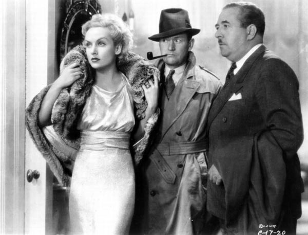 Carole Lombard, Roscoe Karn and Walter Connolly in Twentieth Century