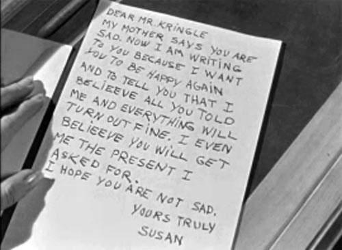 susans letter to santa from miracle on 34th st
