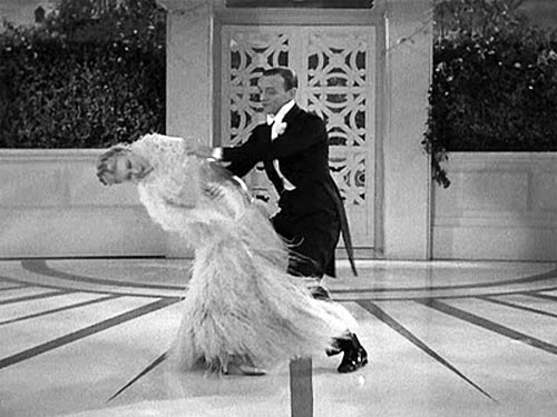 Fred Astaire and Ginger Rodgers dancing, Cheek to Cheek, Top Hat