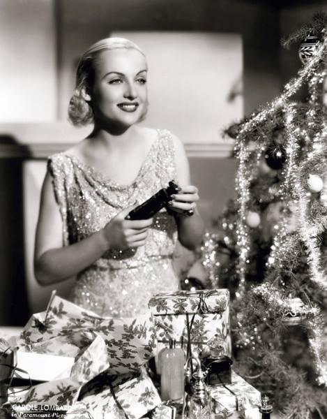 Carole Lombard Christmas