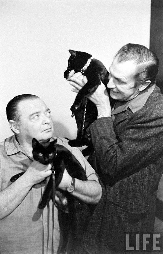 Peter Lorre and Vincent Price 1961 Black Cat Audition