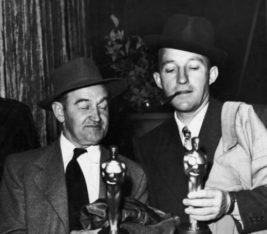 Barry Fitzgerald Bing Crosby 1944 Oscars for Going My Way