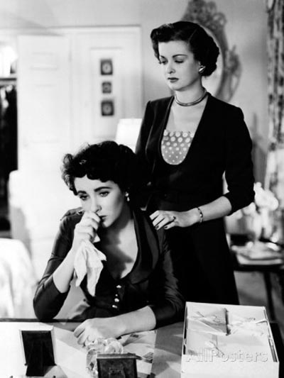 Elizabeth Taylor as Kay Banks  and Joan Bennett as Ellie Banks (Kay's mother) in Vincente Minnelli's Father of the Bride (1950)