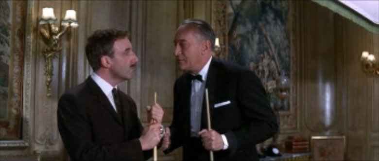 Inspector Clouseau, Peter Sellers, with Benjamin Ballon, George Sanders, A Shot in the Dark