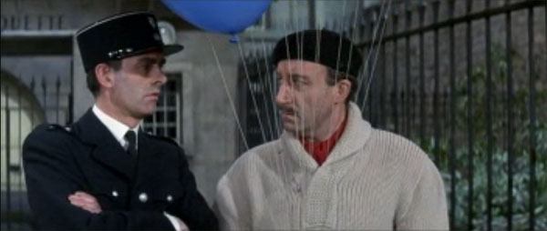 Inspector Clouseau, Peter Sellers, master of disguise, balloons