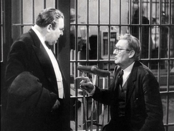 you cant take it with you, edward arnold and lionel barrymore in jail