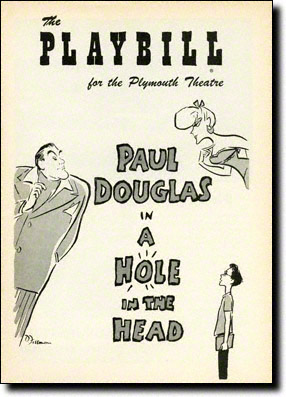 A Hole in the Head Playbill, February 1957
