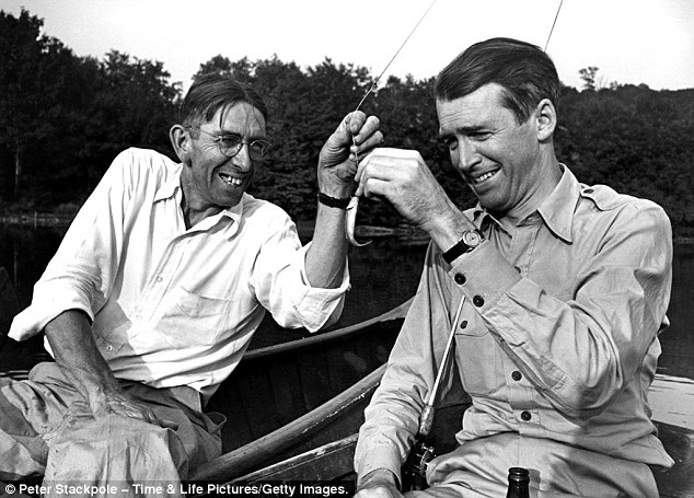 James Stewart fishing