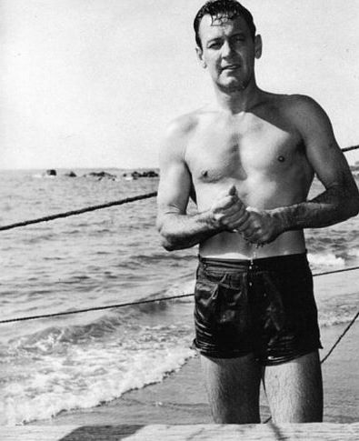 William Holden on Boat