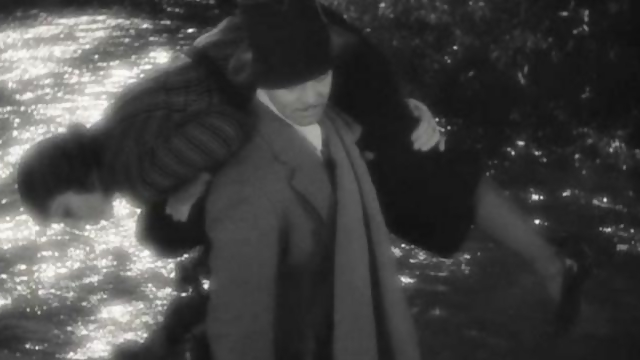 It Happened One Night, Clark Gable and Claudette Colbert, piggyback ride