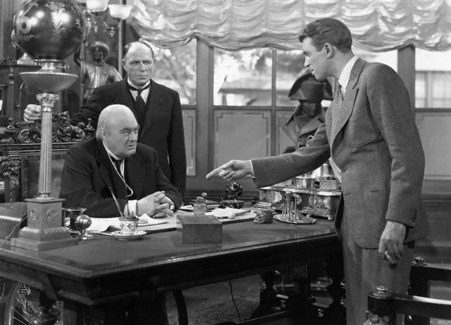 james stewart and lionel barrymore, it's a wonderful life
