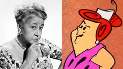 Verna Felton as Fred Flintstone's mother-in-law Pearl Slaghoople