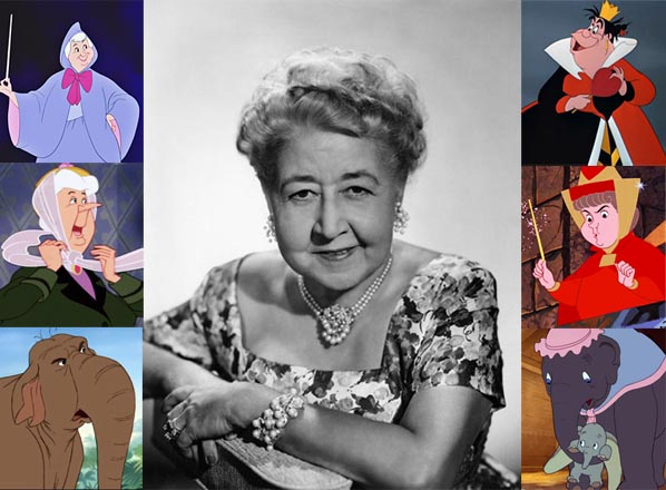 Verna Felton Montage: Alice in Wonderland's The Queen of Hearts, Sleeping Beauty's Flora, Dumbo's Mrs. Jumbo, The Jungle Book's Winifred the Elephant, Lady and the Tramp's Aunt Sarah, Cinderella's Fairy Godmother