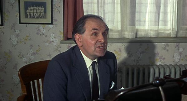 Edward Burnham as the Principal in To Sir With Love