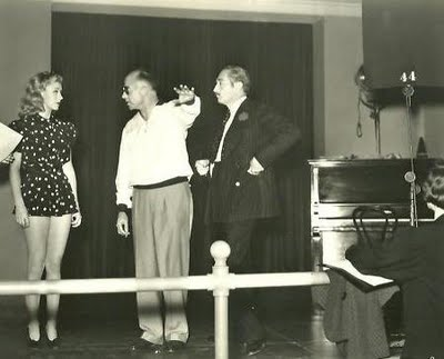 Ginger Rogers rehearsing during Stage Door