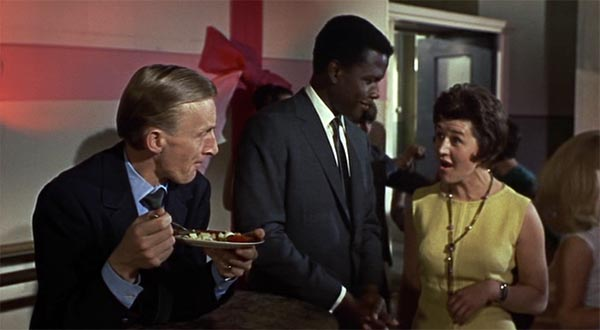 Sidney Poitier, Patricia Routledge and Geoffrey Bayldon in To  Sir With Love