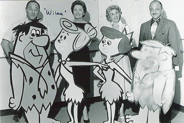Alan Reed as Fred Flintstone, Jean Vander Pyl as Wilma Flintstone, Bea Benaderet as Betty Rubble and Mel Blanc as Barney Rubble, The Flintstones