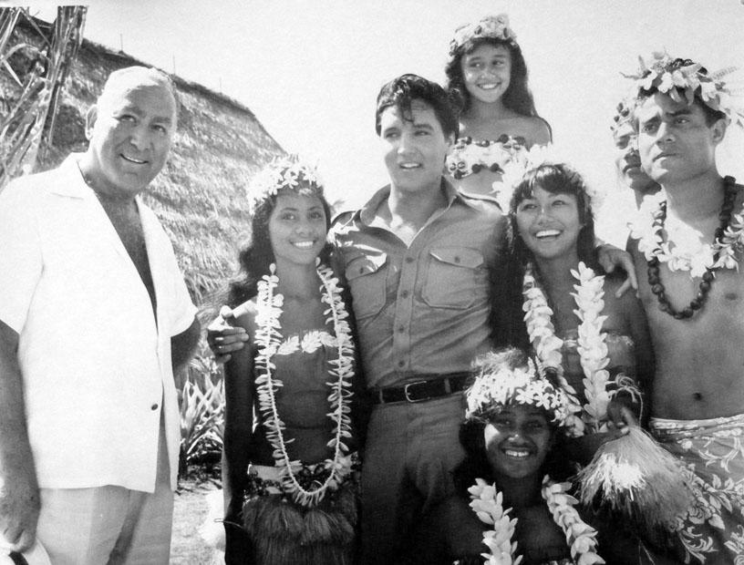 Hal B. Wallis and Elvis Presley during the filming of Paradise Hawaiian Style