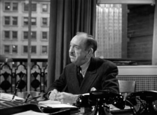 character actor Porter Hall in Miracle on 34th Street