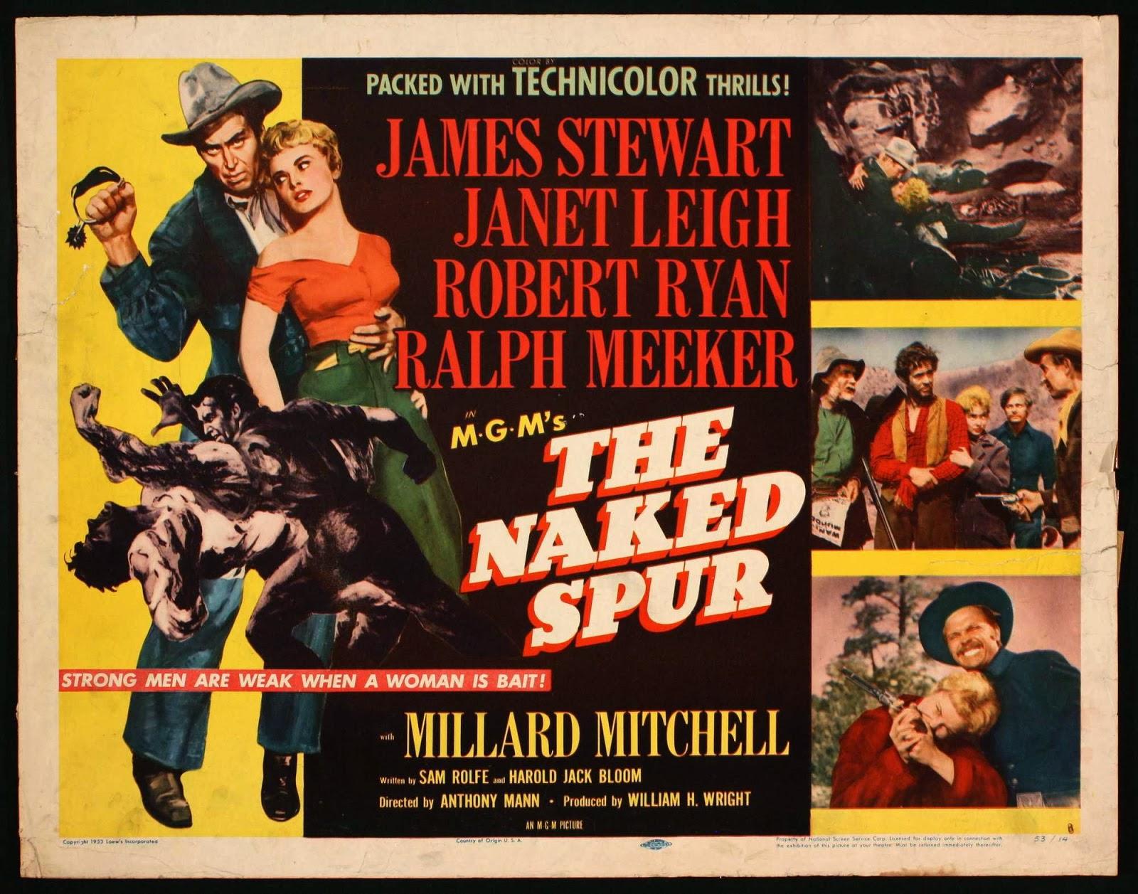 Risultati immagini per lo sperone nudo film 1953