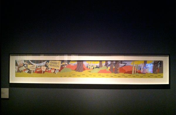 Background, Rabbit Seasoning, Chuck Jones Exhibit, Museum of the Moving Image