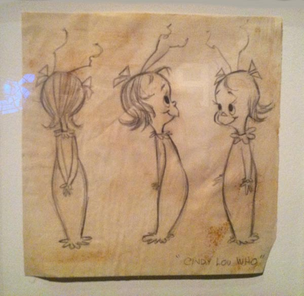 Model Sheet for Cindy Lou Who, How the Grinch Stole Christmas, Chuck Jones Exhibit, Museum of the Moving Image