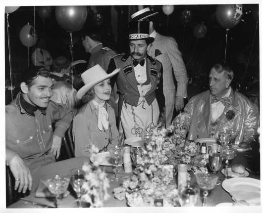 Marion Davies Halloween Party: Clark Gable, Carole Lombard, Director Mervyn Le Roy and William Randolph Hearst