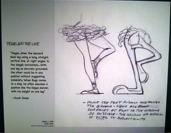 Degas and the line, guide for Bugs Bunny, Chuck Jones Exhibit