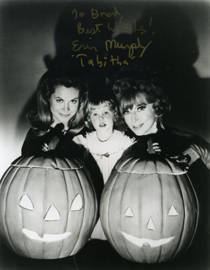 Erin Murphy (Tabetha) with Elizabeth Montgomery (Samantha) and Agnes Moorehead (Andora), Bewitched Halloween