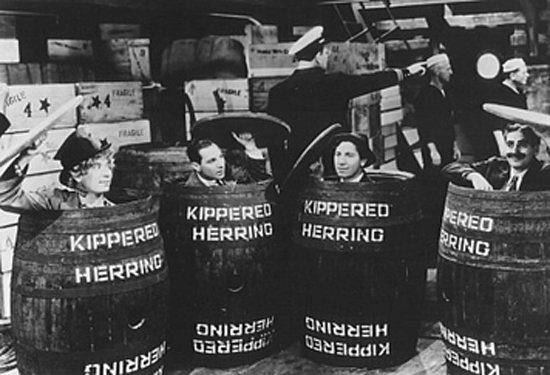 Marx Brothers in Barrels, Monkey Business