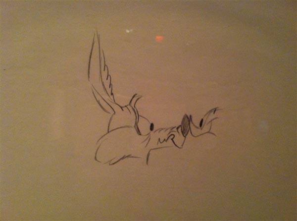 Character Layout Drawings, The Road Runner and Wiley E. Coyote, Chuck Jones Exhibit, Museum of the Moving Image