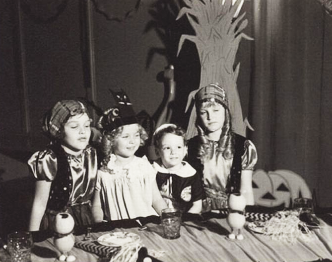 Shirley Temple celebrating Halloween with Harold Lloyd's Children